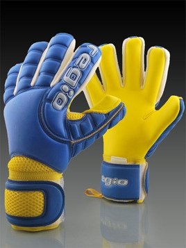 Rękawice Regio LOGO GIGA GRIP NEGATIVE BLUE/YELLOW